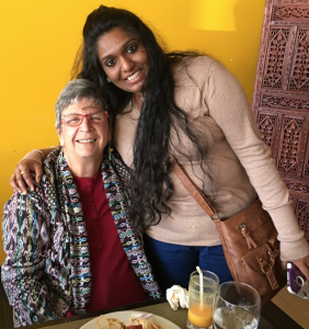 CIVIC volunteer with immigrant previously detained in Northern California who CIVIC helped integrate into the community!