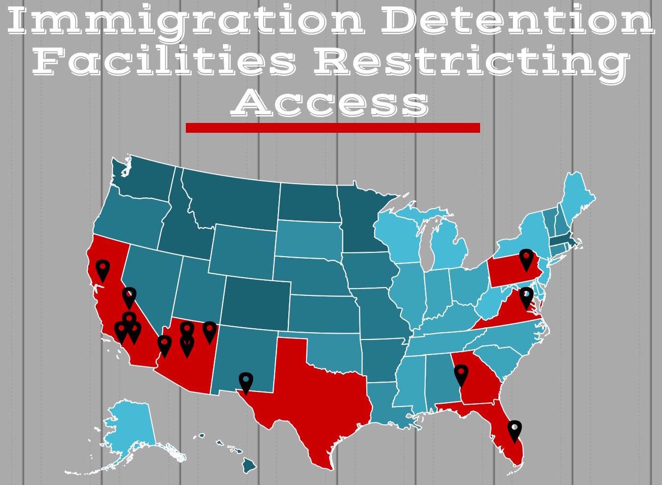 Immigration Detention Facilities Restricting Access